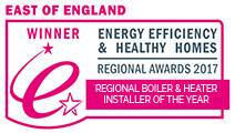 East of England Winner - Energy Efficiency & Healthy Homes Regional Awards 2017: Regional Boiler & Heater Installer of the Year