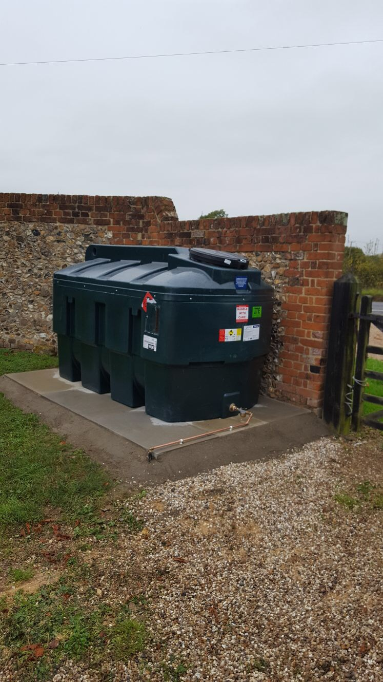 New oil tank install in Chelmsford