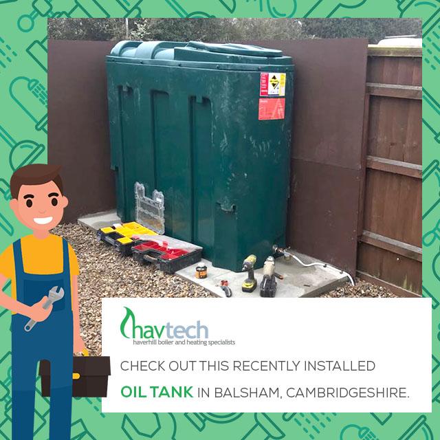 Recently installed Oil Tank in Balsham, Cambridgeshire